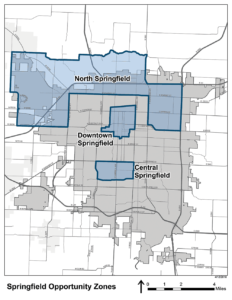 springfield opportunity zones map