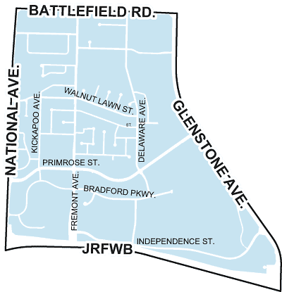 map of bradford park neighborhood