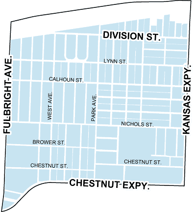 map of heart of the westside neighborhood