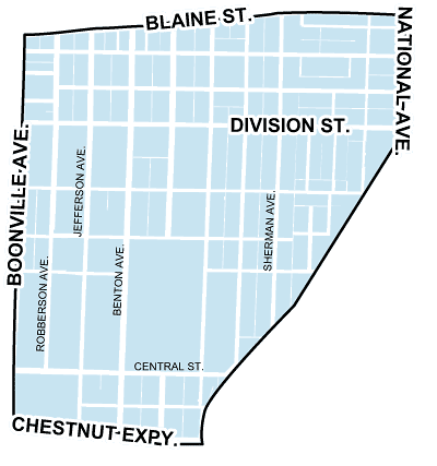 map of midtown neighborhood