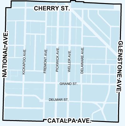 map of rountree neighborhood