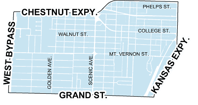map of westside neighborhood