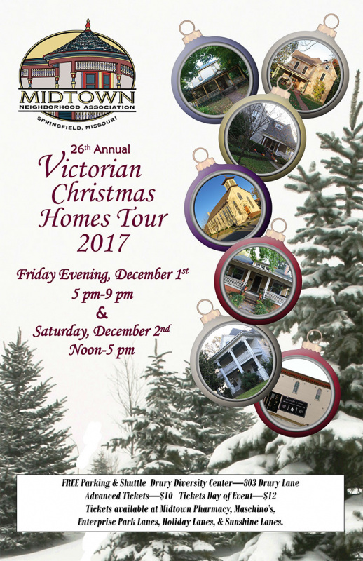 Midtown's 26th Annual Victorian Christmas Homes Tour @ Drury Diversity Center at historic Washington Avenue Baptist Church | Springfield | Missouri | United States