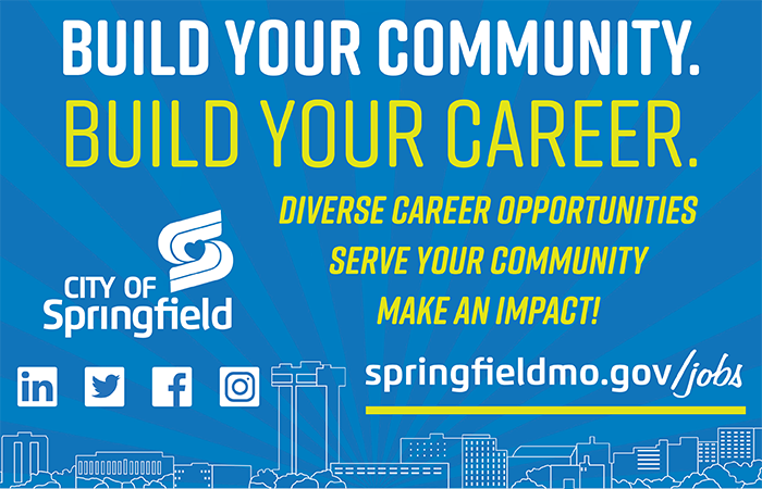 build your community, build your career with employment at the city of springfield