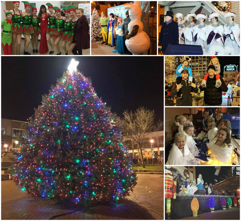 the downtown tree lighting nov 18 on park central square drew around 2000 people to downtown springfield thanks to all of the employees and volunteers