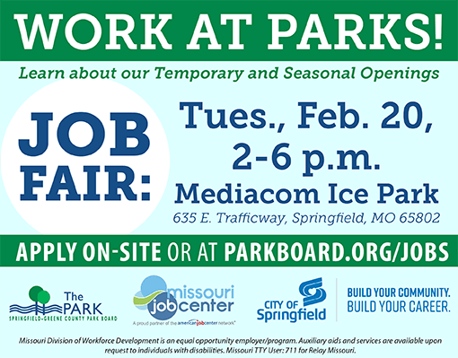Park Board Summer Job Fair @ Mediacom Ice Park | Springfield | Missouri | United States