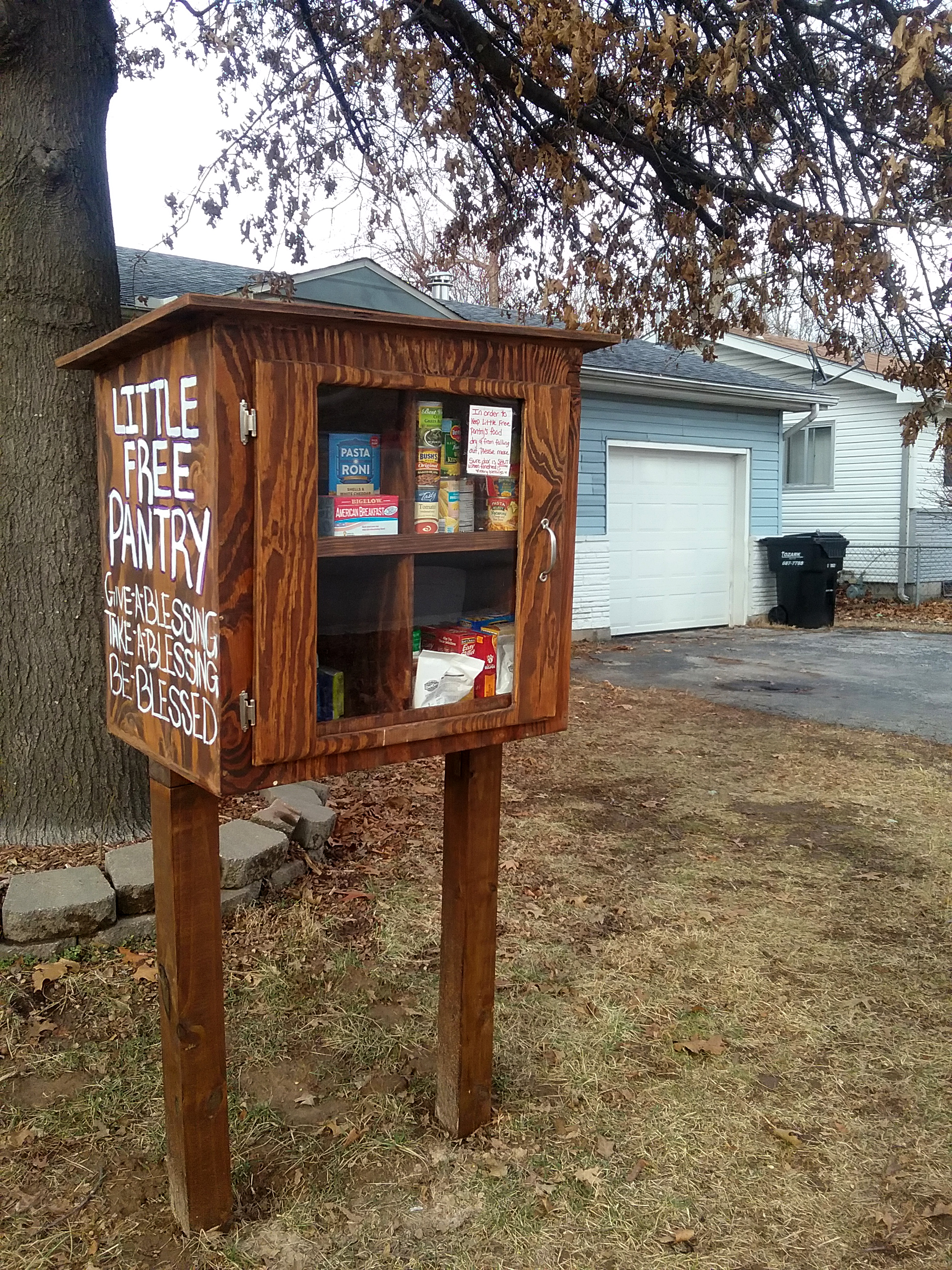 Little Free Libraries, pantry spread literacy, hope and goodwill