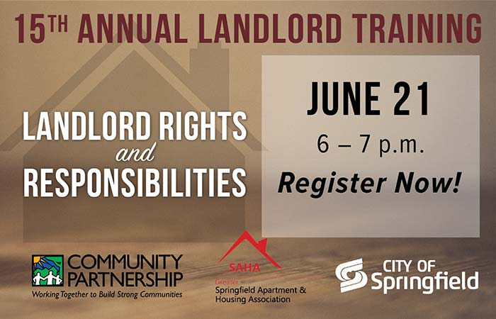 landlord training: landlord rights and responsibilities, june 21