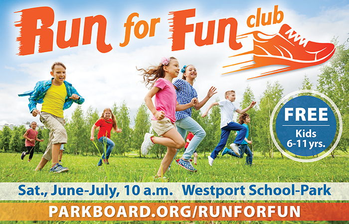 run for fun club, free for kids going into second through sixth grades