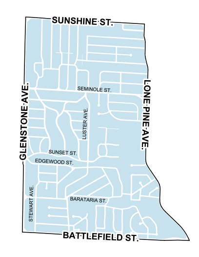 map of brentwood neighborhood
