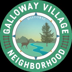 round galloway village neighborhood sign